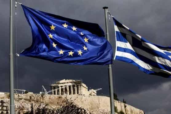 EU-en-Griekse-vlag-voor-Acropolis